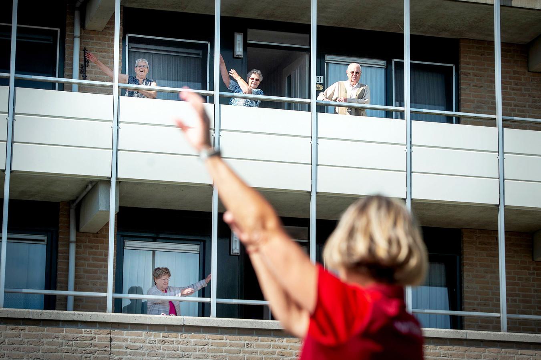 Sporten voor ouderen op afstand in Beuningen.