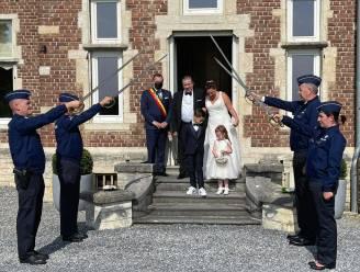 Eerste huwelijk op kasteel Attenrode is een feit: Tamara en Erik gaven elkaar het jawoord