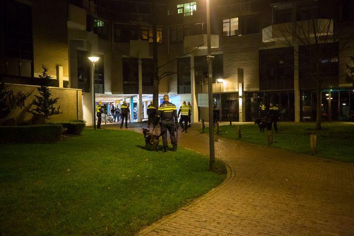 Vechtpartij bij het Emile van Loonpark van afgelopen weekend.