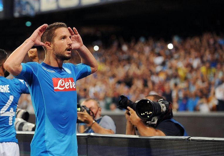 Dries Mertens scoorde na 13 minuten in de heenwedstrijd tegen Nice. Beeld Getty Images