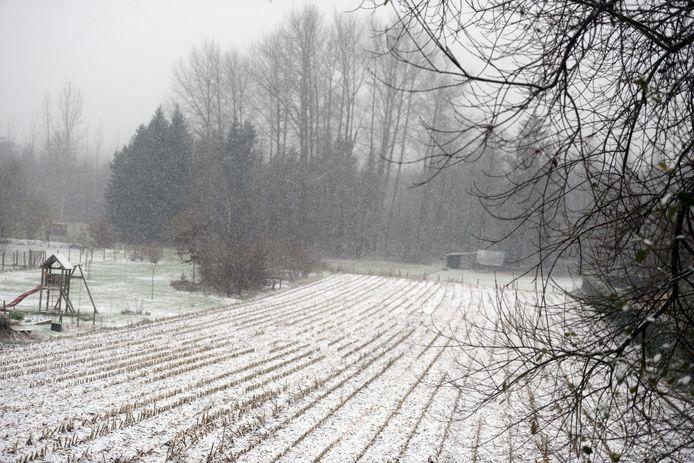 Sneeuw in regio Leuven