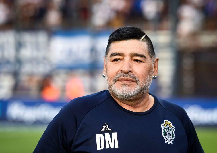 Diego Maradona, begin dit jaar. Beeld Getty Images
