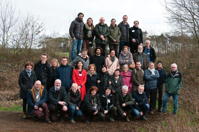 Een groepsfoto nemen na het behalen van hun getuigschrift zat er wegens corona niet in. Deze foto van de groep, aan het Totterpad in Meerhout, zoals hij startte dateert van februari 2020.