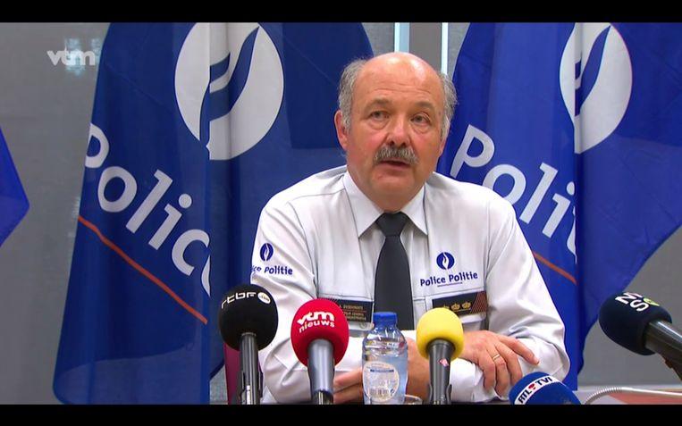 André Desenfants, de nummer twee van de federale politie. Beeld VTM nieuws
