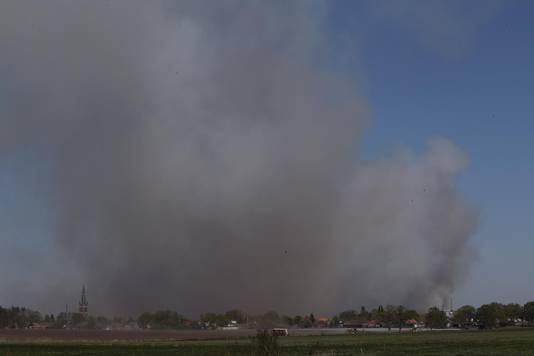 Brand Deurnsche Peel vanuit Liessel