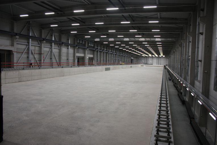 De nieuwe sleeptank in Oostende is 174 meter lang en 20 meter breed.