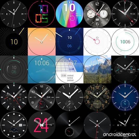 De 25 verschillende interfaces voor de smartwatch van LG.