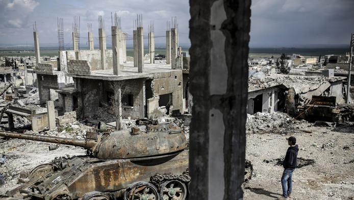 Archiefbeeld van de Syrische stad Kobani