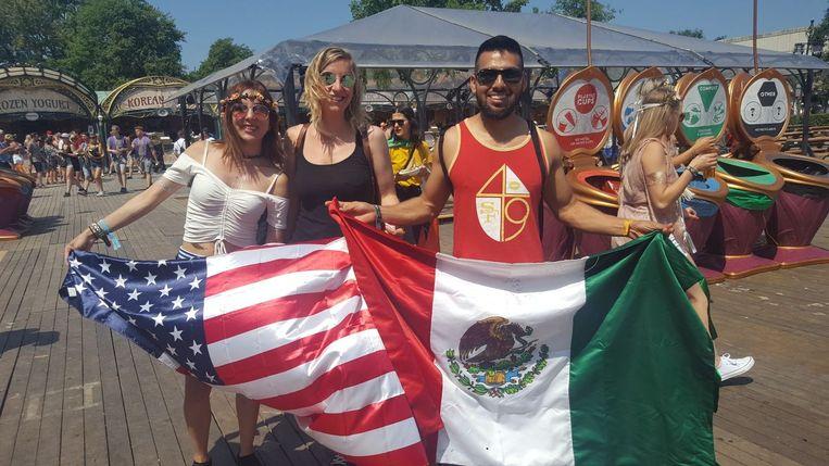 Maria uit de Verenigde Staten, Margo uit België en Eli uit Mexico.