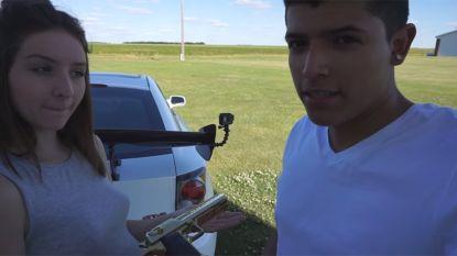 Luttele momenten na dit filmpje schoot meisje haar vriend dood bij mislukte YouTube-stunt