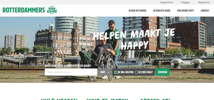 De website van Rotterdammers voor Elkaar.