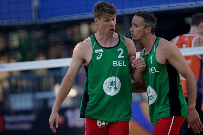 """Tom van Walle (l.) en Dries Koekelkoren: """"Het was sleuren van in het begin van het toernooi in Haacht. We hadden een mindere dag."""""""
