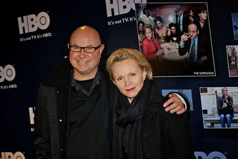 Actrice Renee Soutendijk en haar partner Ted Lensen. Beeld null