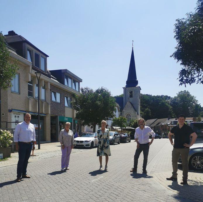 Het schepencollege van Meise in het centrum van de gemeente, waarvoor een circulatieplan goedgekeurd werd.