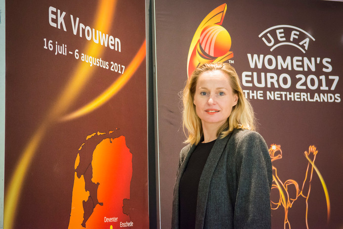 Minke Booij, directeur van het EK Vrouwenvoetbal, in de KNVB Campus in Zeist.