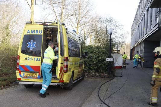 De hulpdiensten waren snel aanwezig bij het zorgcentrum in Sint Anthonis.