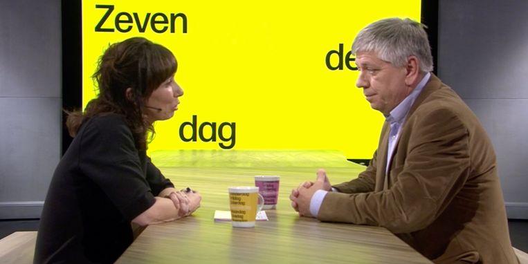 Lisbeth Imbo en Jo Vandeurzen in 'De zevende dag'. Beeld vrt