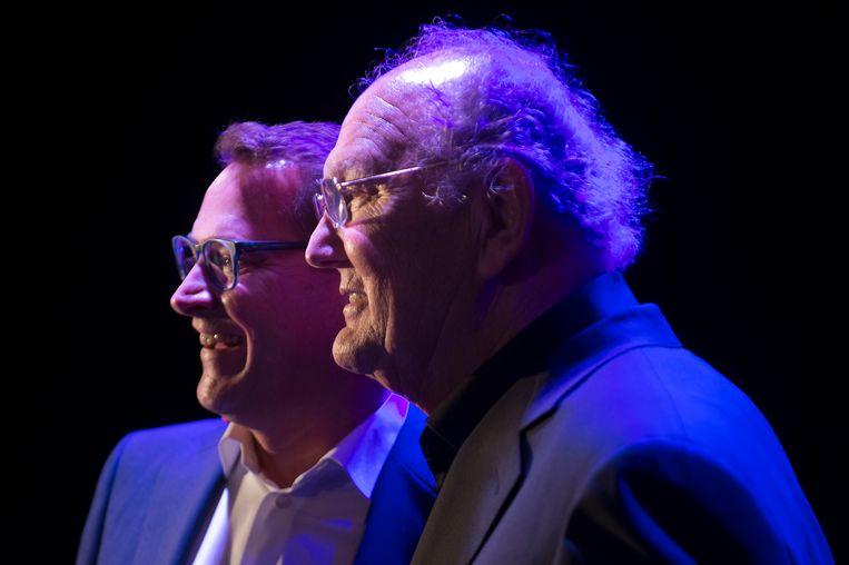 Albert Verlinde en Joop van den Ende in 2014. Beeld Hollandse Hoogte / Kick Smeets Fotografie