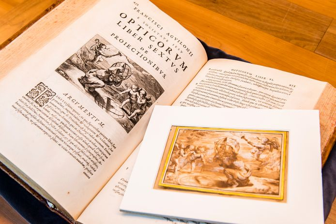 De teruggevonden tekening van Rubens voor het wetenschappelijke boek van Aguilonius.