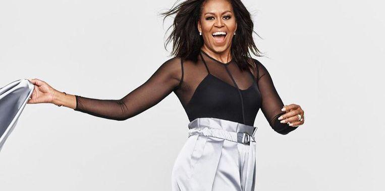 Michelle Obama in de Amerikaanse ELLE in een Belgisch lingeriesetje.