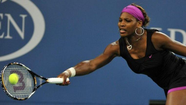 Serena Williams won woensdagavond van de Hongaarse Melinda Czink. Foto EPA Beeld