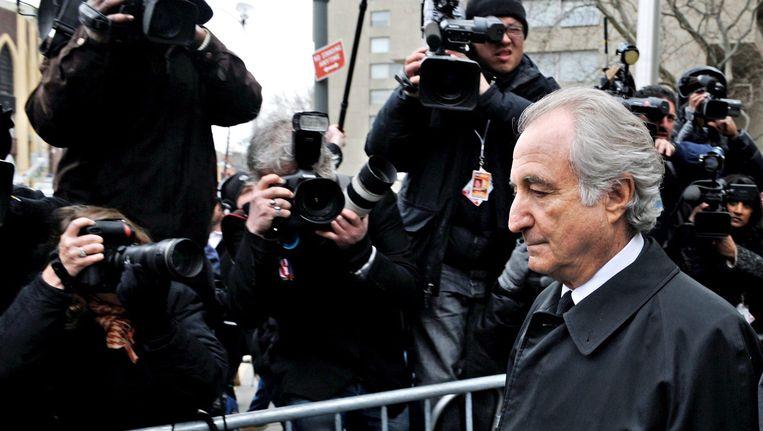 Nicolas Cosmo werd in januari 2009 opgepakt, iets meer dan een maand na megaoplichter Bernard Madoff (foto). Beeld EPA
