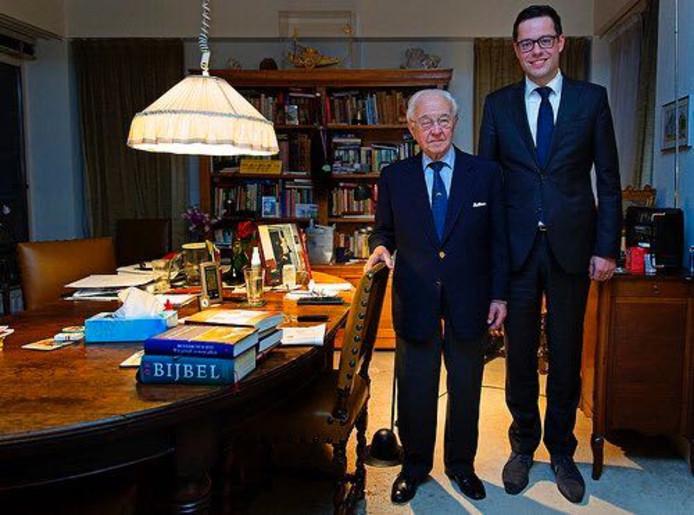 Oud-premier Piet de Jong (links) en CDA-lijsttrekker Karsten Klein.