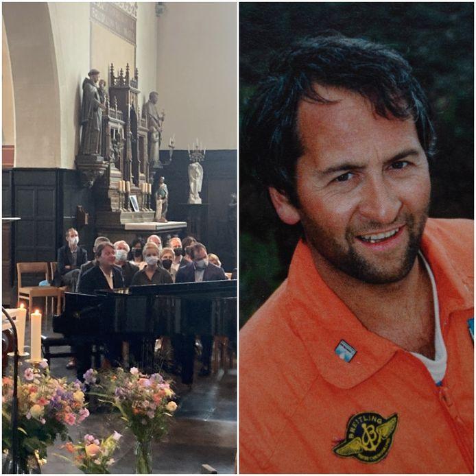 Joost Zweegers van Novastar speelde enkele akoestische nummers tijdens de uitvaart van Wim Verstraeten.