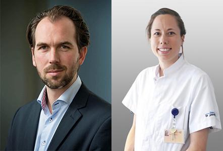 Verouderingsexpert David van Bodegom en geriater Mariska Overdijk.