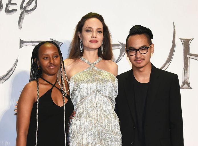 Zahara Marley Jolie-Pitt, Angelina Jolie en Maddox Jolie-Pitt.