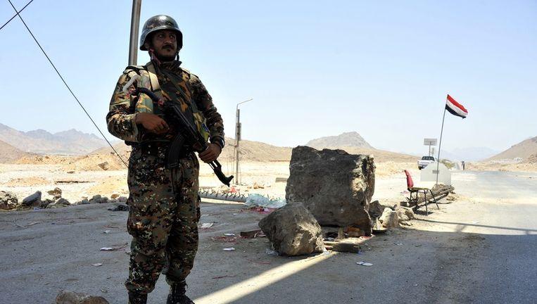 Jemenitische troepen in de Shabwa provincie. Beeld epa