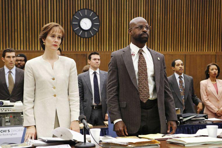 Beeld uit de nieuwe Amerikaanse dramareeks 'The People v. O.J. Simpson: American Crime Story'. Beeld BBC/Fox