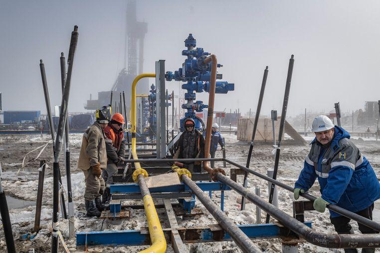 De gaspijpleiding naar Europa begint in Bovanenkovo, in het hoge noorden van Rusland. Beeld Yuri Kozyrev / Noor