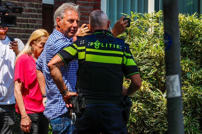 Pegida-voorman Edwin Wagensveld tijdens de een eerder actie in Eindhoven.