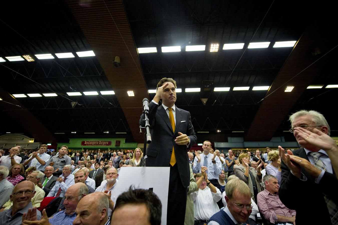 Camiel Eurlings in 2010 tijdens het CDA-congres in de Rijnhal in Arnhem.