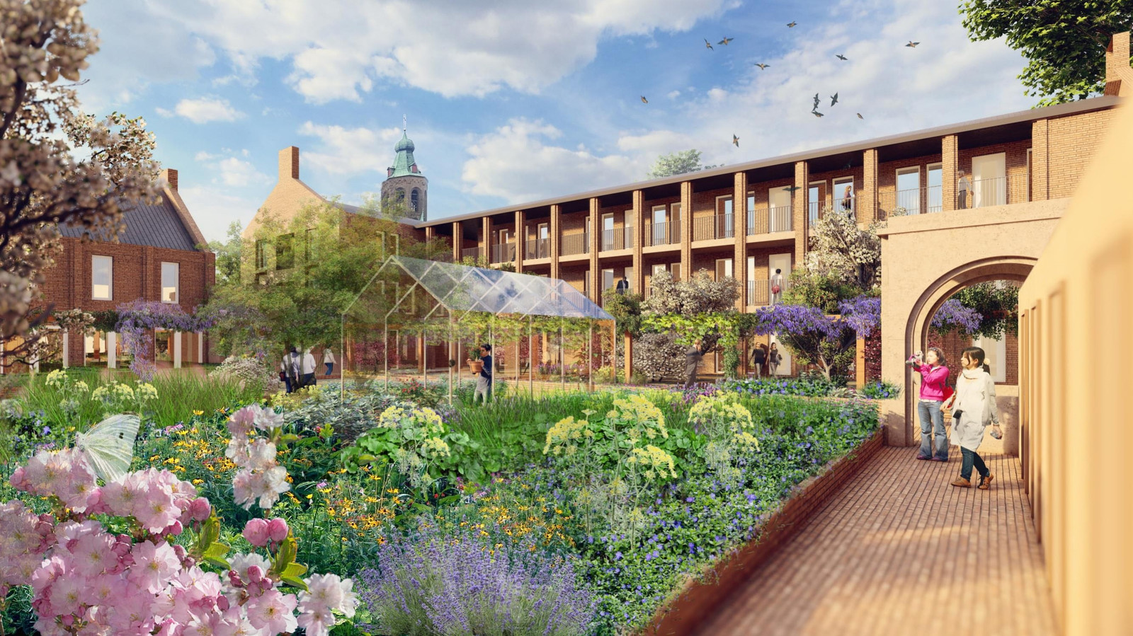 Impressies van nieuwbouwplan Hof van Huesse op de plek van de zogenoemde Aloysiuslocatie in Huissen.