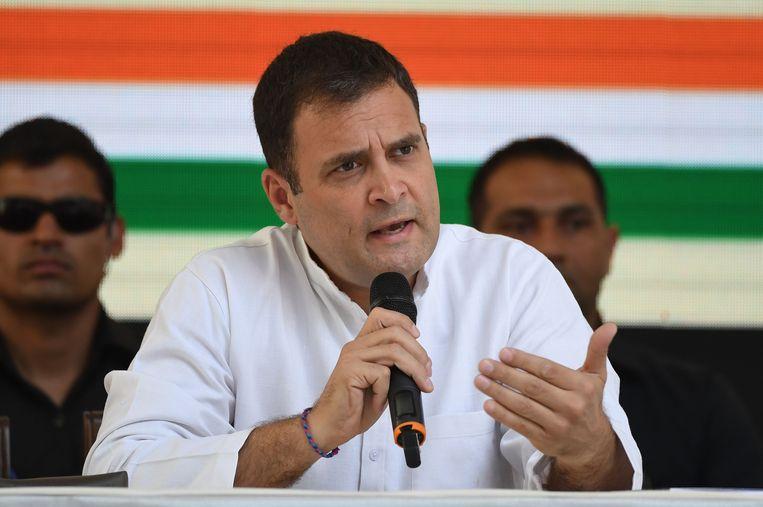 Modi's voornaamste uitdager, Rahul Gandhi Beeld AFP