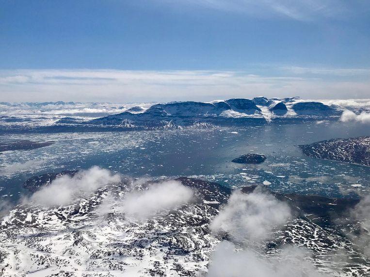 Het poolgebied in Groenland, april 2018. Beeld EPA/NASA