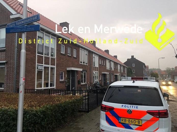 Aanhouding van een 34-jarige man op de Floris Radewijnszstraat in Leerdam.