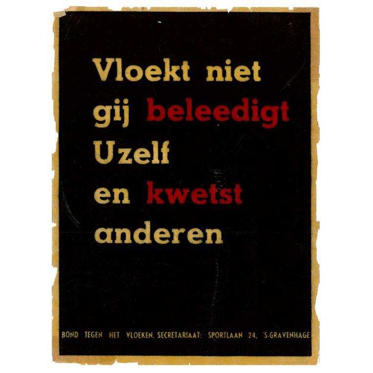 Poster uit 1946. Beeld null