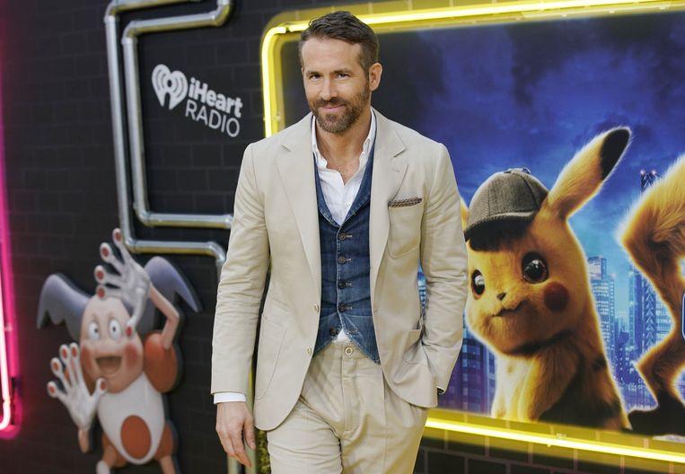 Ryan Reynolds is Pikachu in de nieuwe film 'Pokémon: Detective Pikachu'. Beeld Photo News