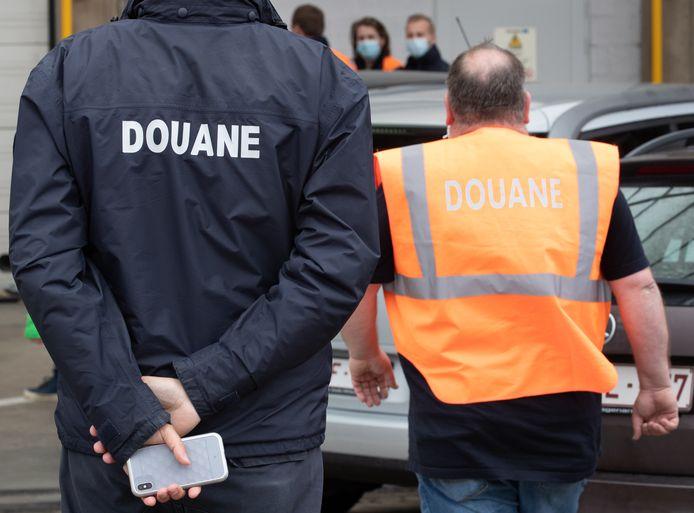 De douaniers voerden vandaag actie op Brussels Airport.
