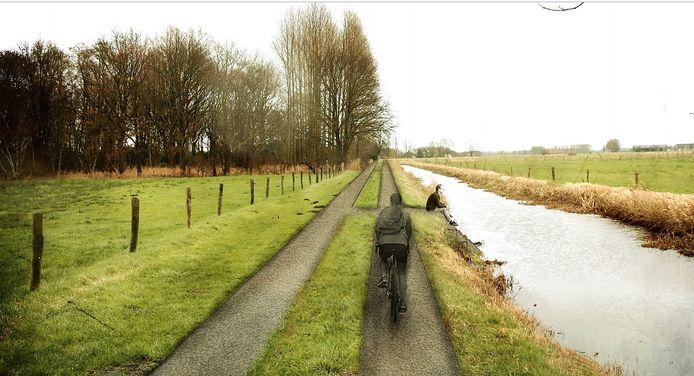 Een impressie fietspad Halsters Laag