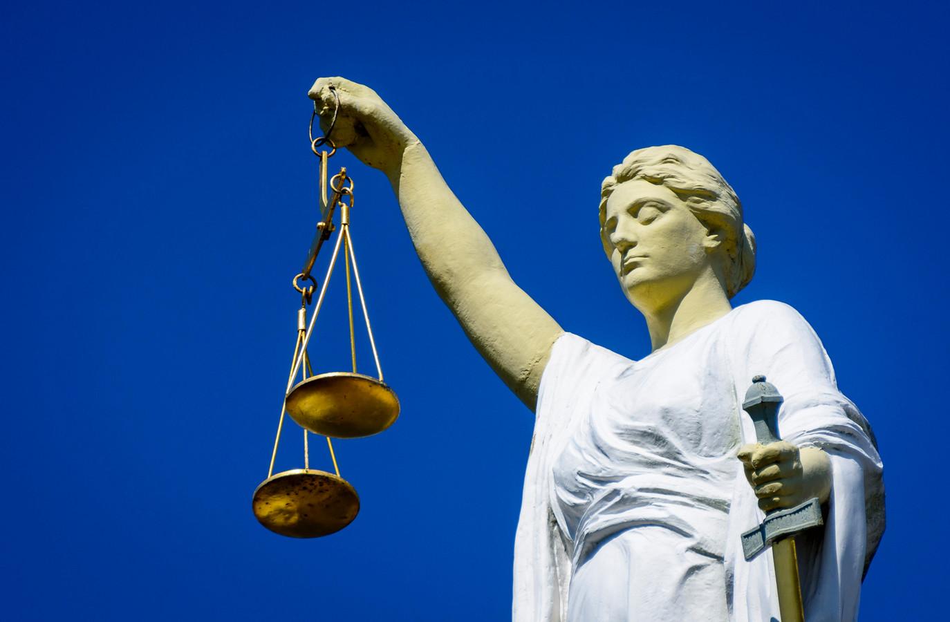Een beeld van Vrouwe Justitia, het symbool van rechtvaardigheid. Foto ter illustratie.