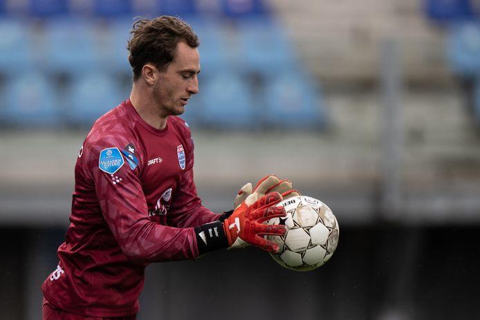 PEC-keeper Xavier Mous speelde zondag tegen FC Groningen zijn laatste wedstrijd voor de Zwollenaren.