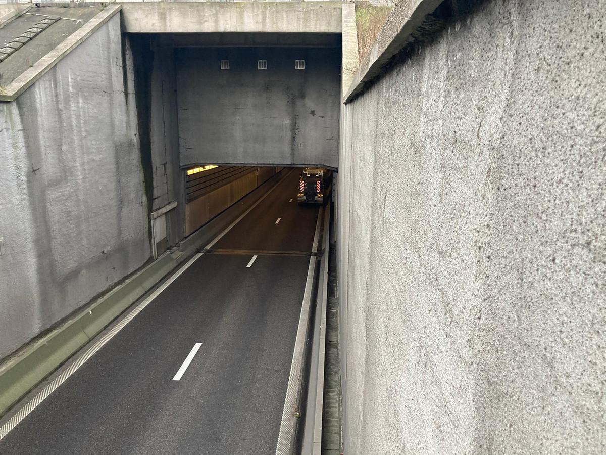 In de tunnel gebeurde het ongeval.