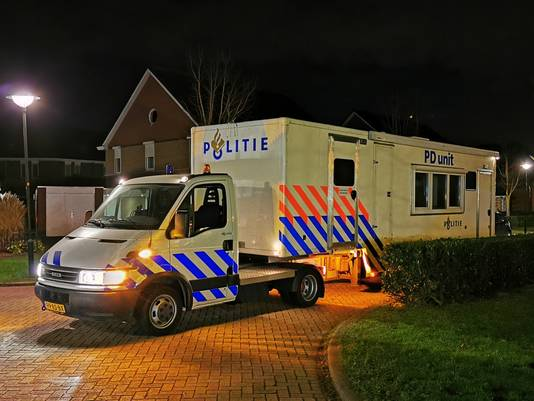 De PD-unit van de politie is ter plaatse.