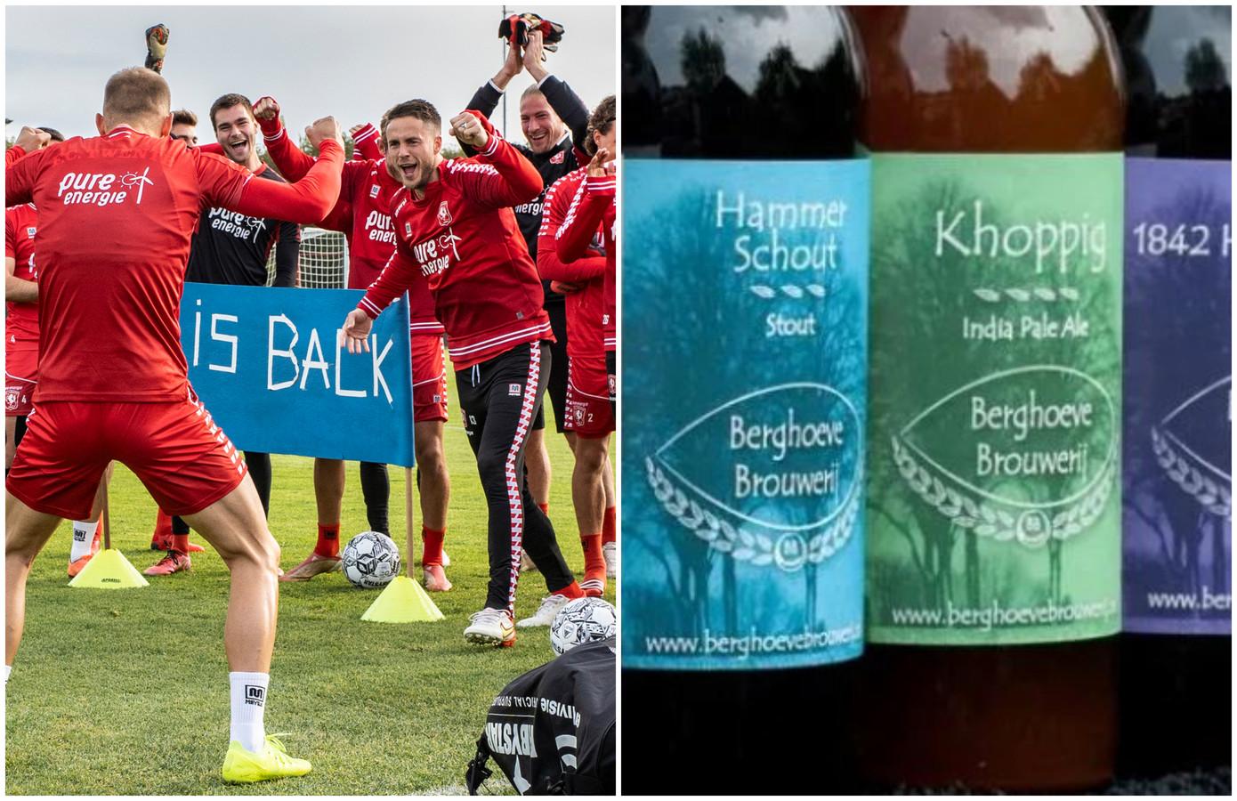 Links: Vaclav Cerny wordt feestelijk onthaald op de training van FC Twente en biertjes uit deze regio worden door accijnsverhoging flink duurder.