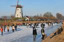 Schaatsen op de Damse Vaart in 2009.