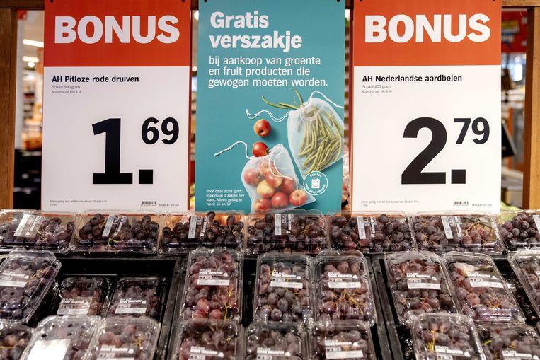 Een groente- en fruitafdeling van een Albert Heijn. Beeld ANP